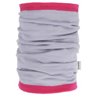 Women's Merino 1layer Thin Neck Tube Grey Pink