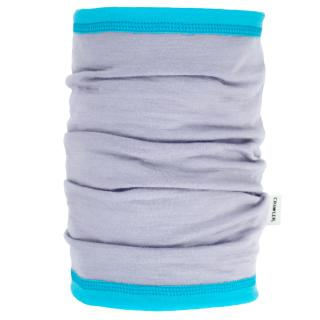Women's Merino 1layer Thin Neck Tube Grey Turquoise