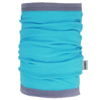 Women's Merino 1layer Thin Neck Tube Turquoise Grey