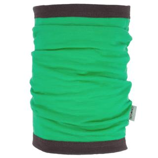 Women's Merino 1layer Thin Neck Tube Green Brown
