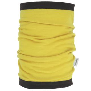 Women's Merino 1layer Thin Neck Tube Yellow Brown